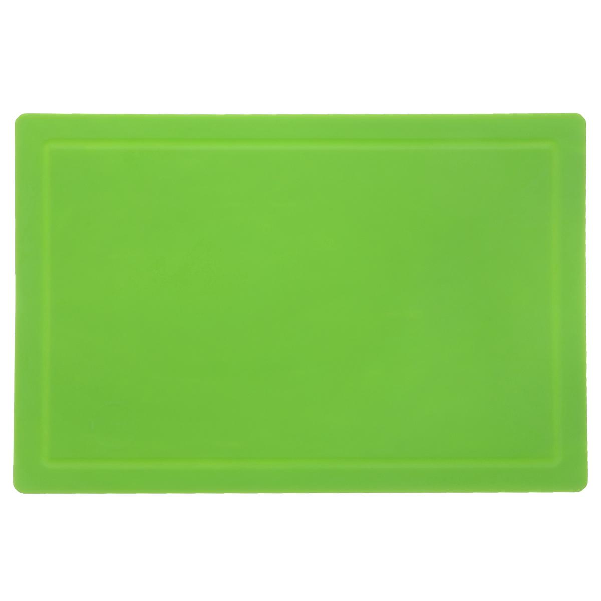 Доска разделочная TimA, цвет: зеленый, 36 см х 25 смДРГ-3625Гибкая разделочная доска TimA, изготовленная из высококачественного полиуретана, займет достойное место среди аксессуаров на вашей кухне. Благодаря гибкости, с доски удобно высыпать нарезанные продукты. Она не тупит металлические и керамические ножи. Не впитывает влагу и легко моется. Обладает исключительной прочностью и износостойкостью. Доска TimA прекрасно подойдет для нарезки любых продуктов.
