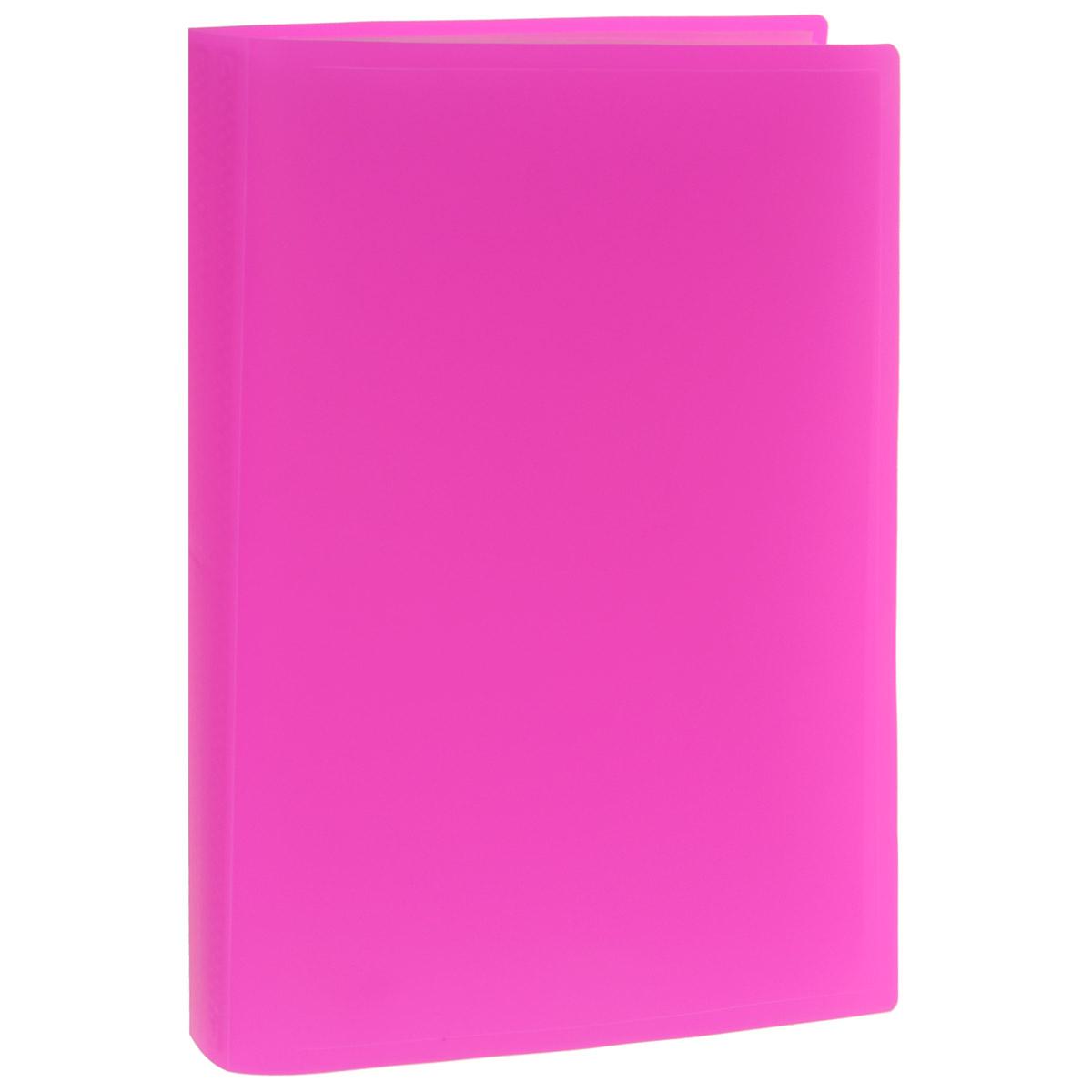 Папка с файлами Erich Krause, 40 листов, формат А4, цвет: розовый34757Папка Erich Krause с 40 прозрачными файлами-вкладышами идеально подходит для хранения рабочих бумаг и документов формата А4 без перфорации, требующих упорядоченности и наглядного обзора: отчетов, презентаций, коммерческих и персональных портфолио. Папка выполнена из полупрозрачного жесткого пластика с гофрированной поверхностью в ярких цветовых решениях. Благодаря совершенной технологии производства папка не подвергается воздействию низкой температуры, не деформируется и не ломается при изгибе и транспортировке.