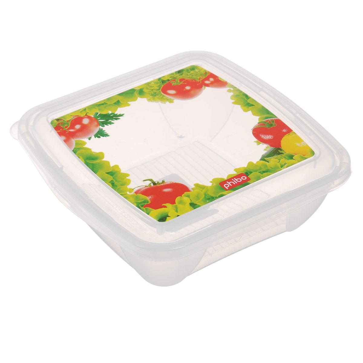 Контейнер Phibo Fresco, 0,5 лС11127Контейнер Phibo Fresco изготовлен из высококачественного прозрачного полипропилена и не содержит Бисфенол А. Крышка легко и плотно закрывается, украшена декором. Контейнер устойчив к воздействию масел и жиров, легко моется. Подходит для использования в микроволновых печах, выдерживает хранение в морозильной камере. Не рекомендуется мыть в посудомоечной машине. Объем контейнера: 0,5 л.