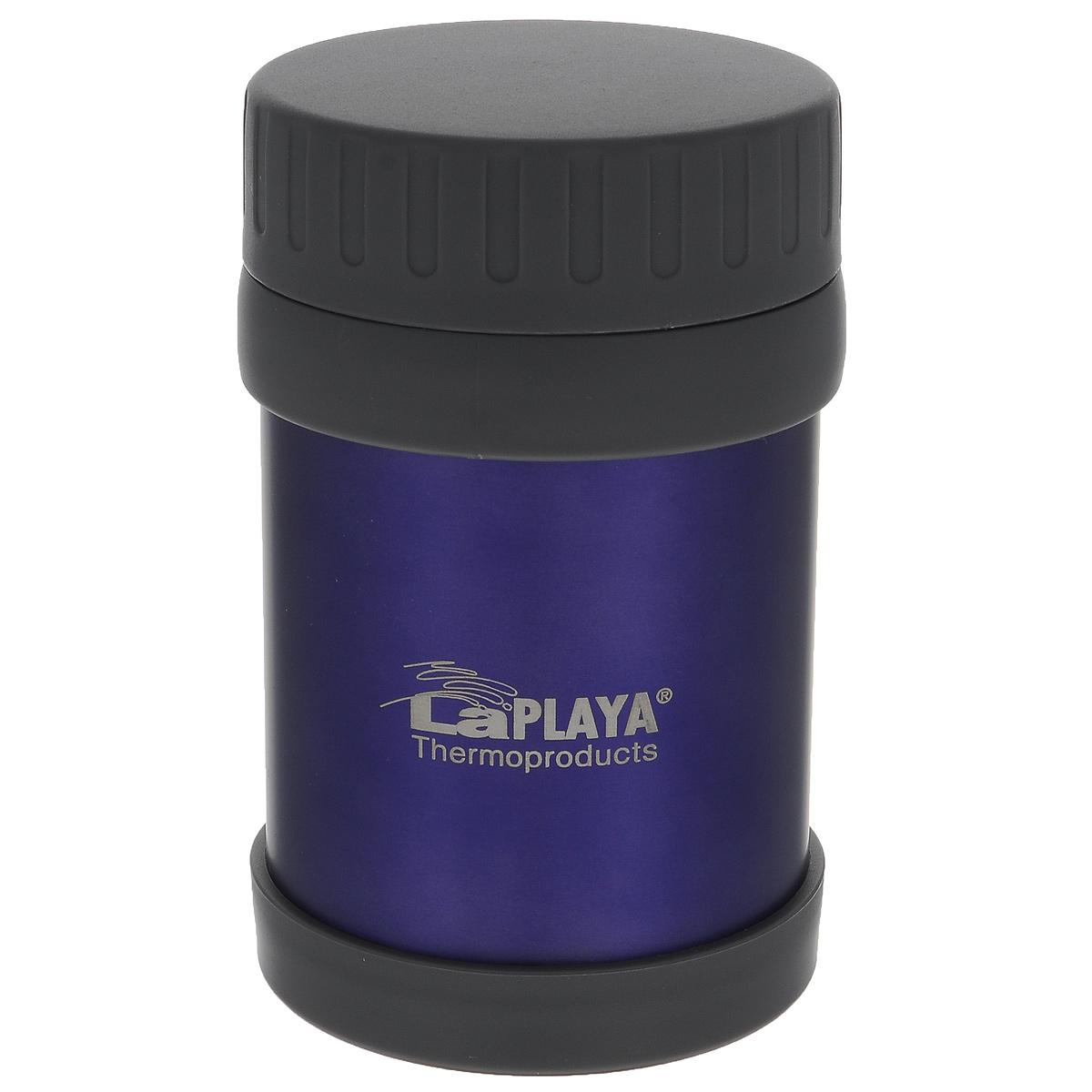 Термос LaPlaya JMG, цвет: фиолетовый, 350 мл560030Термос LaPlaya JMG изготовлен из высококачественной нержавеющей стали 18/8 и пластика. Термос с двухстеночной вакуумной изоляцией, предназначенный для хранения горячих и холодных продуктов, сохраняет их до 6 часов горячими и холодными в течении 8 часов. Термос очень легкий, имеет широкое горло и закрывается герметичной крышкой. Идеально подходит для напитков, а также первых и вторых блюд. Высота: 14 см. Диаметр горлышка: 6,8 см.