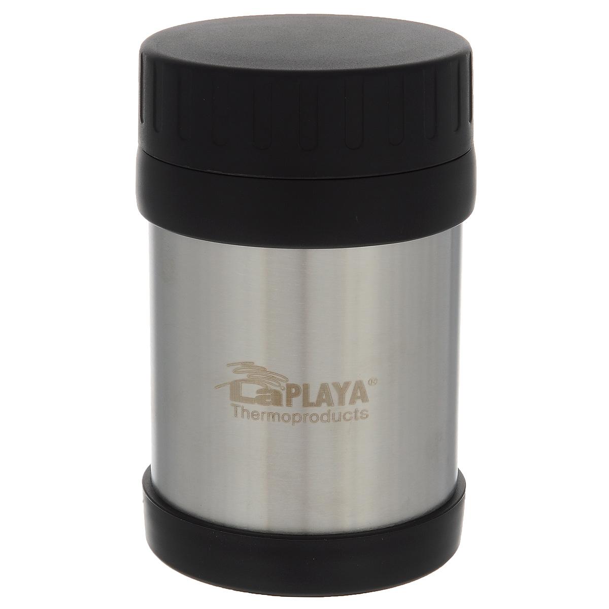 Термос LaPlaya JMG, цвет: серебристый, 350 мл560036Термос LaPlaya JMG изготовлен из высококачественной нержавеющей стали 18/8 и пластика. Термос с двухстеночной вакуумной изоляцией, предназначенный для хранения горячих и холодных продуктов, сохраняет их до 6 часов горячими и холодными в течении 8 часов. Термос очень легкий, имеет широкое горло и закрывается герметичной крышкой. Идеально подходит для напитков, а также первых и вторых блюд. Высота: 14 см. Диаметр горлышка: 6,8 см.