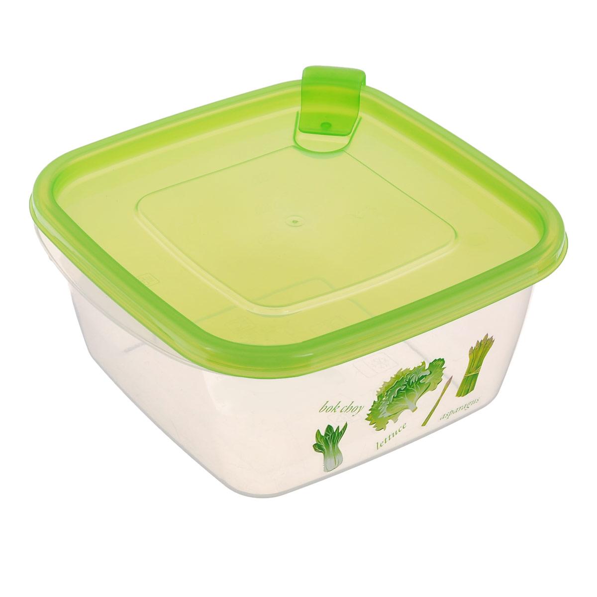 Контейнер Phibo, с клапаном, цвет: зеленый, прозрачный, 1 л. С11703С11703Контейнер Phibo изготовлен из высококачественного полипропилена и не содержит Бисфенол А. Изделие оформлено ярким рисунком. Крышка легко и плотно закрывается, снабжена клапаном. Контейнер устойчив к воздействию масел и жиров, легко моется. Подходит для использования в микроволновых печах при температуре до +100°С, выдерживает хранение в морозильной камере при температуре -24°С. Можно мыть в посудомоечной машине при температуре до +95°С.