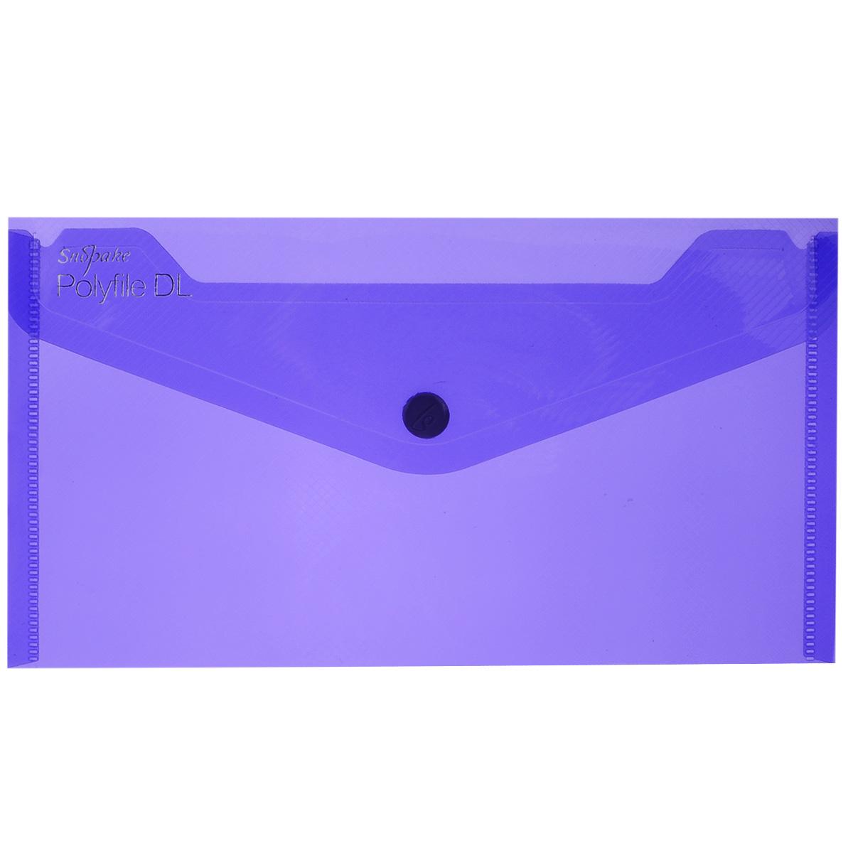 Папка-конверт на кнопке Snopake Polifile DL: Electra, цвет: фиолетовый, формат А5K10035