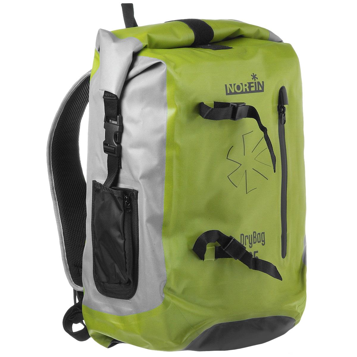 Рюкзак городской Norfin Dry Bag, цвет: серый, неоновый желтый, 35 лNF-40303Водонепроницаемый рюкзак Norfin Dry Bag со сворачивающимся верхом. Благодаря многофункциональности данный рюкзак позволяет удобно и легко укладывать свои вещи. Особенности рюкзака: Подвесная система c пятью рабочими зонами, обтянута сеткой Air Mesh Анатомические лямки. Слой пены и сетки Air Mesh для мягкости и вентиляции Одно внутреннее отделение, два внутренникх кармана на молнии Фронтальный карман на молнии Водонепроницаемые молнии Два боковых кармана, меняющих объем Грудная стяжка Швы проклеены.