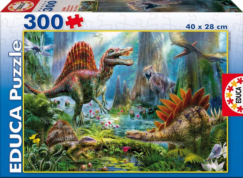 Пазл 300 деталей Динозавры16366Пазл Динозавры отправят юного исследователя в парк Юрского периода! Кроме того, такие игры развивают память, логику, интеллектуальные способности. Собранная картина порадует малыша яркими красками и живописным сюжето