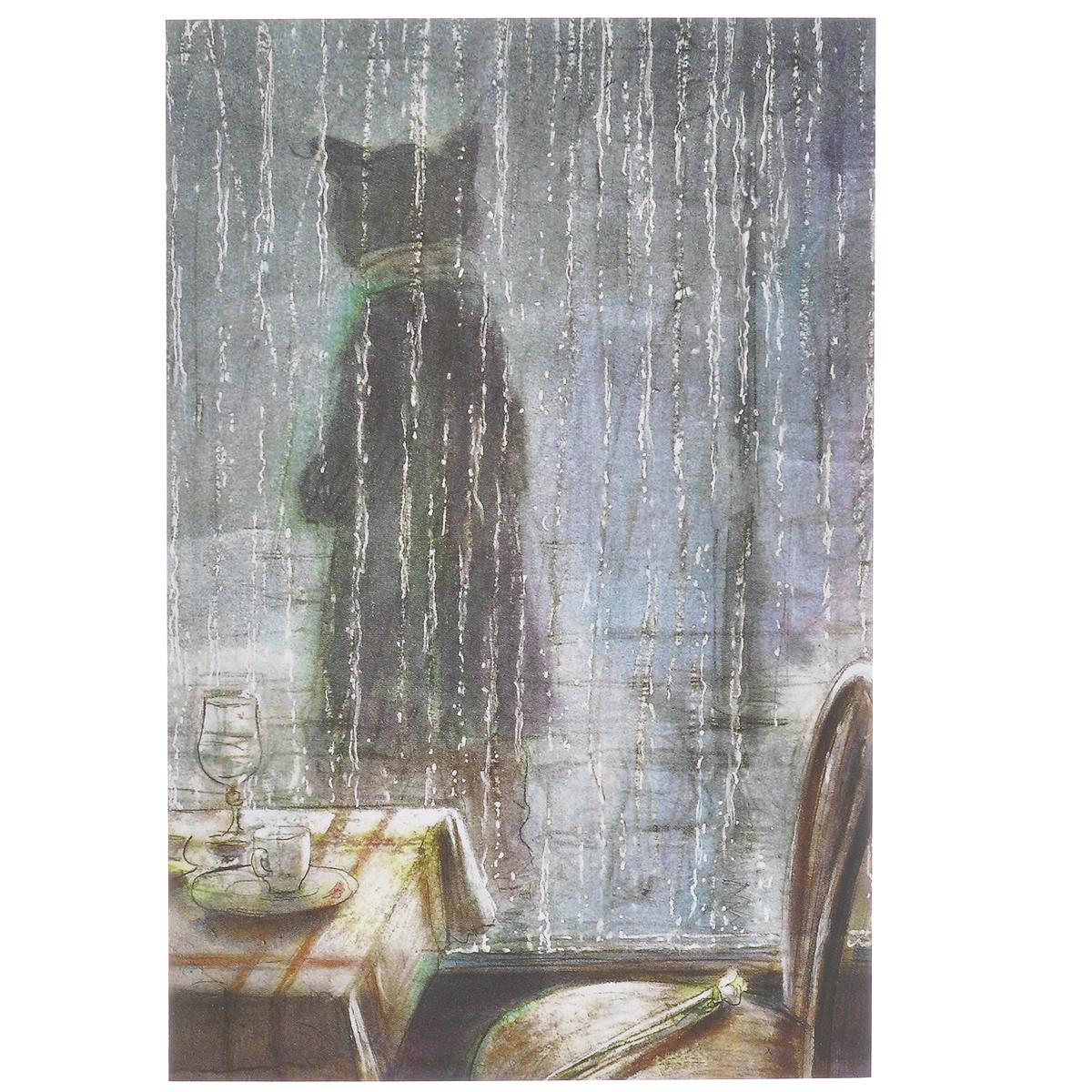 Открытка В дождь. Из набора Парижский Кот-художник. Автор: Андрей АринушкинAA10-009Оригинальная дизайнерская открытка В дождь из набора Парижский Кот-художник выполнена из плотного матового картона. На лицевой стороне расположена репродукция картины художника Андрея Аринушкина. На задней стороне имеется поле для записей. Такая открытка станет великолепным дополнением к подарку или оригинальным почтовым посланием, которое, несомненно, удивит получателя своим дизайном и подарит приятные воспоминания.