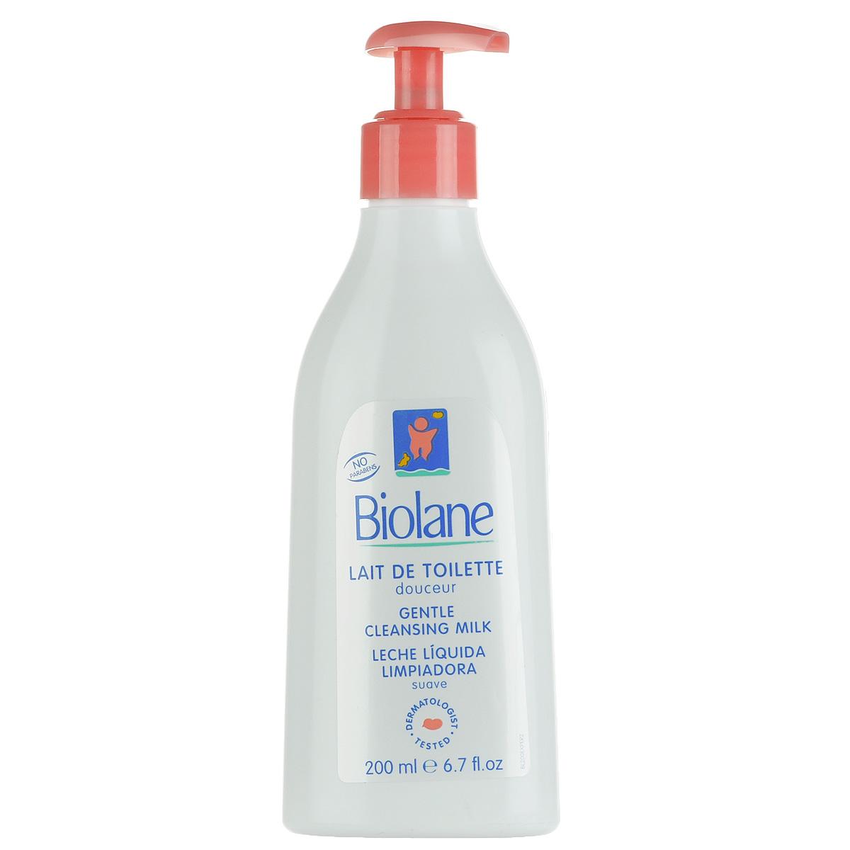 Biolane Нежное туалетное молочко для детей, 200 млBL200Нежное туалетное молочко Biolane предназначено для ежедневной гигиены малыша в первые месяцы жизни. Оно представляет собой мягкий несмываемый лосьон, созданный специально для обработки нежной кожи младенца и любой чувствительной кожи. Не содержащая мыла моющая основа с pH-сбалансированной формулой мягко очищает кожу, не высушивая ее, и способствует поддержанию кожного баланса. Не требует смывания. Товар сертифицирован.