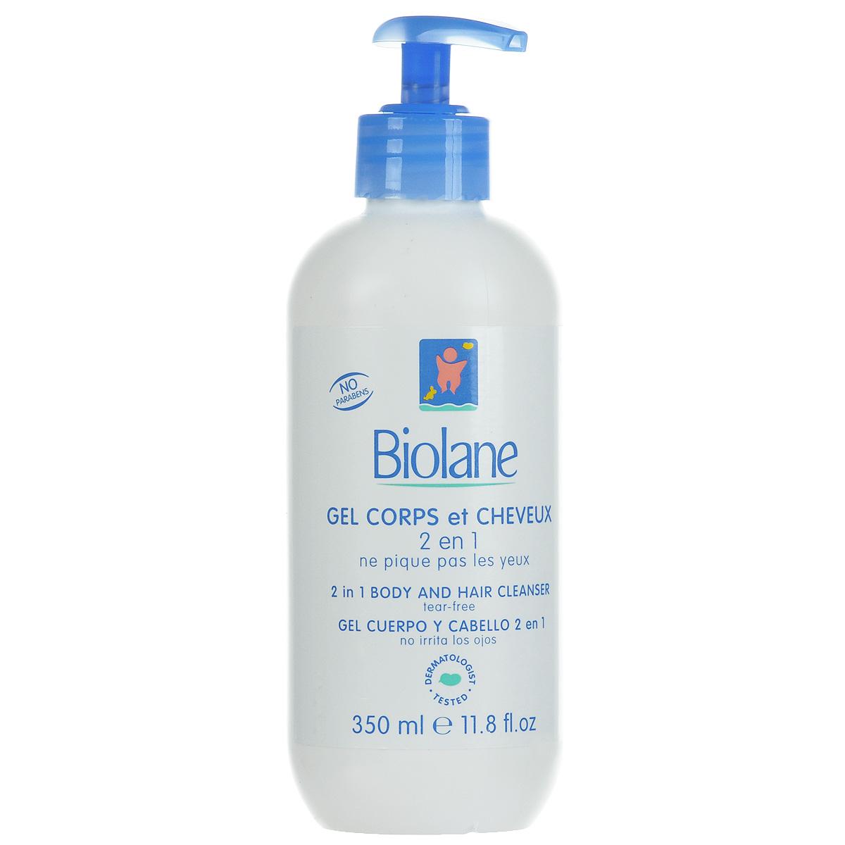 Biolane Детский гель для купания и шампунь 2 в 1, 350 мл
