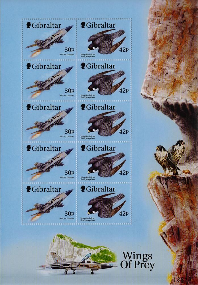 Малый лист из 10 марок Крылатые хищники. Гибралтар, 2000 год401306Малый лист из 10 марок Крылатые хищники. Гибралтар, 2000 год. Размер листа: 21 х 14.5 см. Размер марок: 3 х 4 см. Сохранность хорошая.