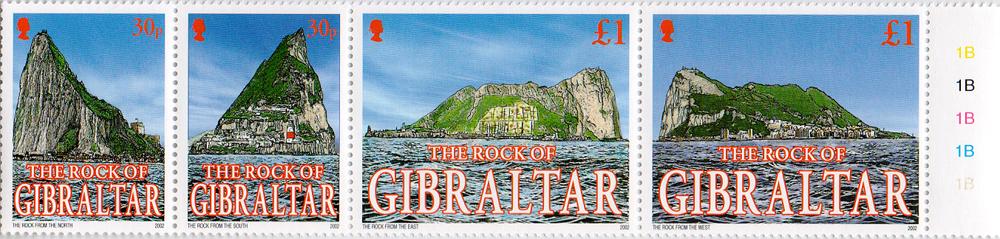 Комплект из 4 марок Скала Гибралтара. Гибралтар, 2002 год401306Комплект из 4 марок Скала Гибралтара. Гибралтар, 2002 год. Размер марок: 4 х 3 см и 4 х 5 см. Сохранность хорошая.