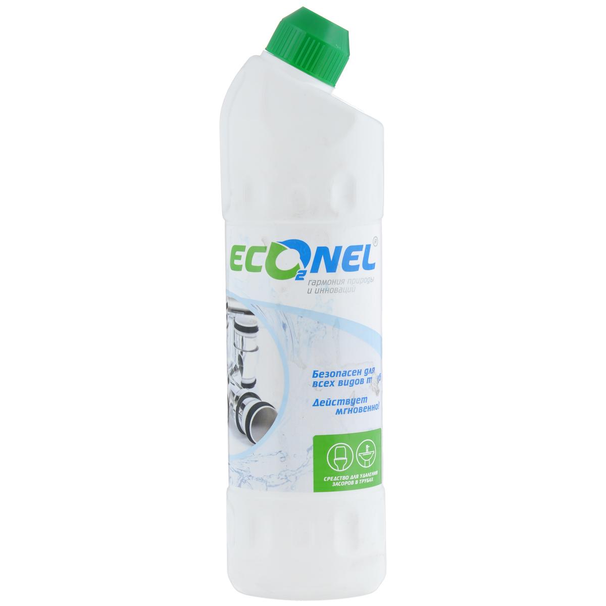Средство для удаления засоров Econel, 800 г870241Средство Econel предназначено для бытовых нужд, очистки водостоков ванн, умывальников и канализационных труб от засорения органическими посторонними материалами и отходами жирового характера. Состав: 5-15% гидроксид натрия, более 30% вода очищенная.