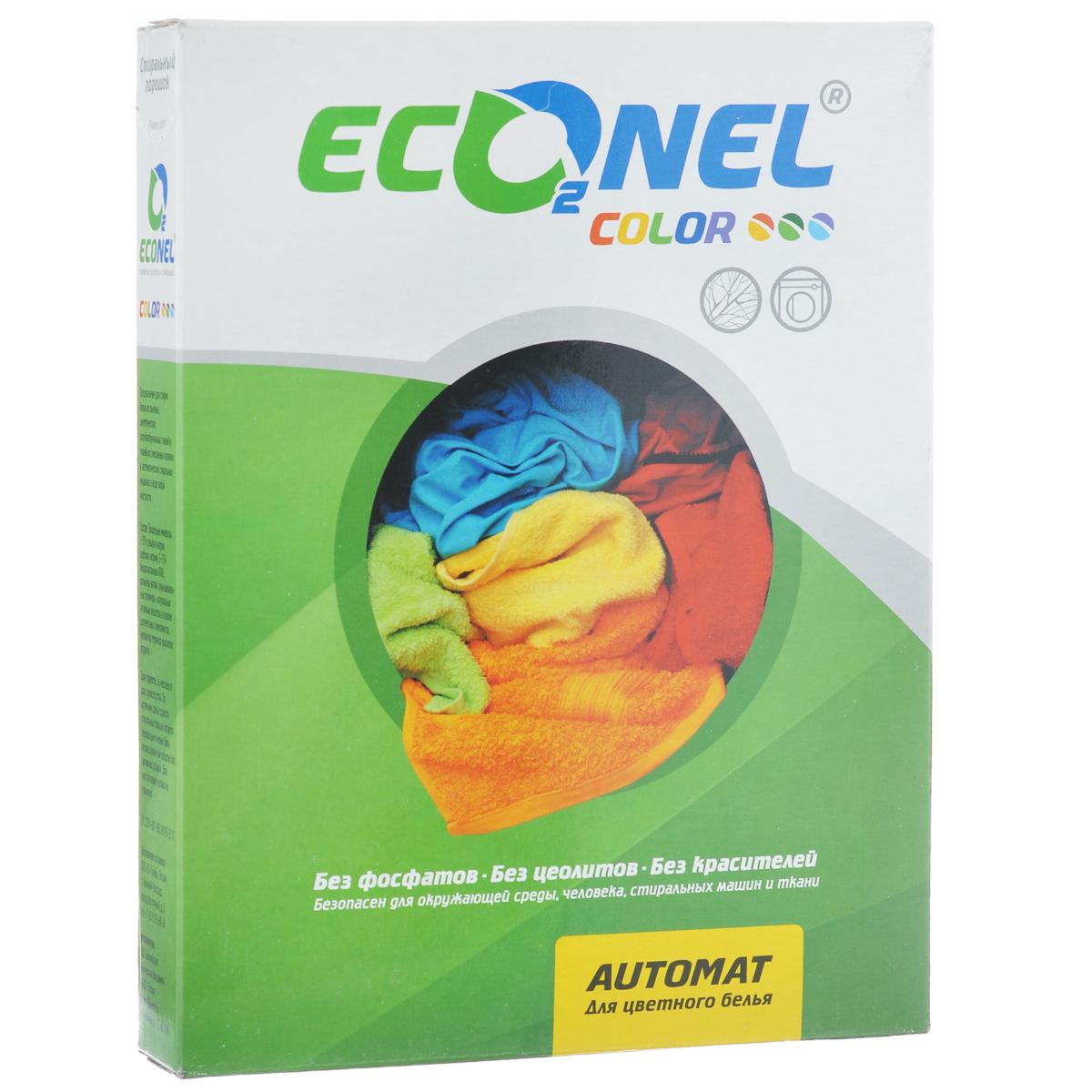 Стиральный порошок Econel Color, автомат, для цветного белья, 400 г870140Стиральный порошок Econel Color предназначен для стирки белья из льняных, синтетических, хлопчатобумажных тканей и тканей из смешанных волокон в автоматических стиральных машинах в воде любой жесткости. Полностью биоразлагаемый порошок, не наносит вреда окружающей среде. Современное производство не образует пыли, которая может раздражать дыхательные пути. Высокоэффективная стирка за счет содержания современных активных компонентов. Эффективен даже при низких температурах стирки. Сохраняет цвет вещей после многократных стирок. Не содержит искусственных отдушек и красителей, не вызывает аллергию. Защищает стиральную машину от накипи. Состав: природные материалы (более 15% сульфата натрия, карбонат натрия), 5-15% биоразлагаемые АПАВ, силикаты натрия, функциональные полимеры, натуральные активные вещества на основе растительных компонентов, ингибитор переноса красителя, отдушка.