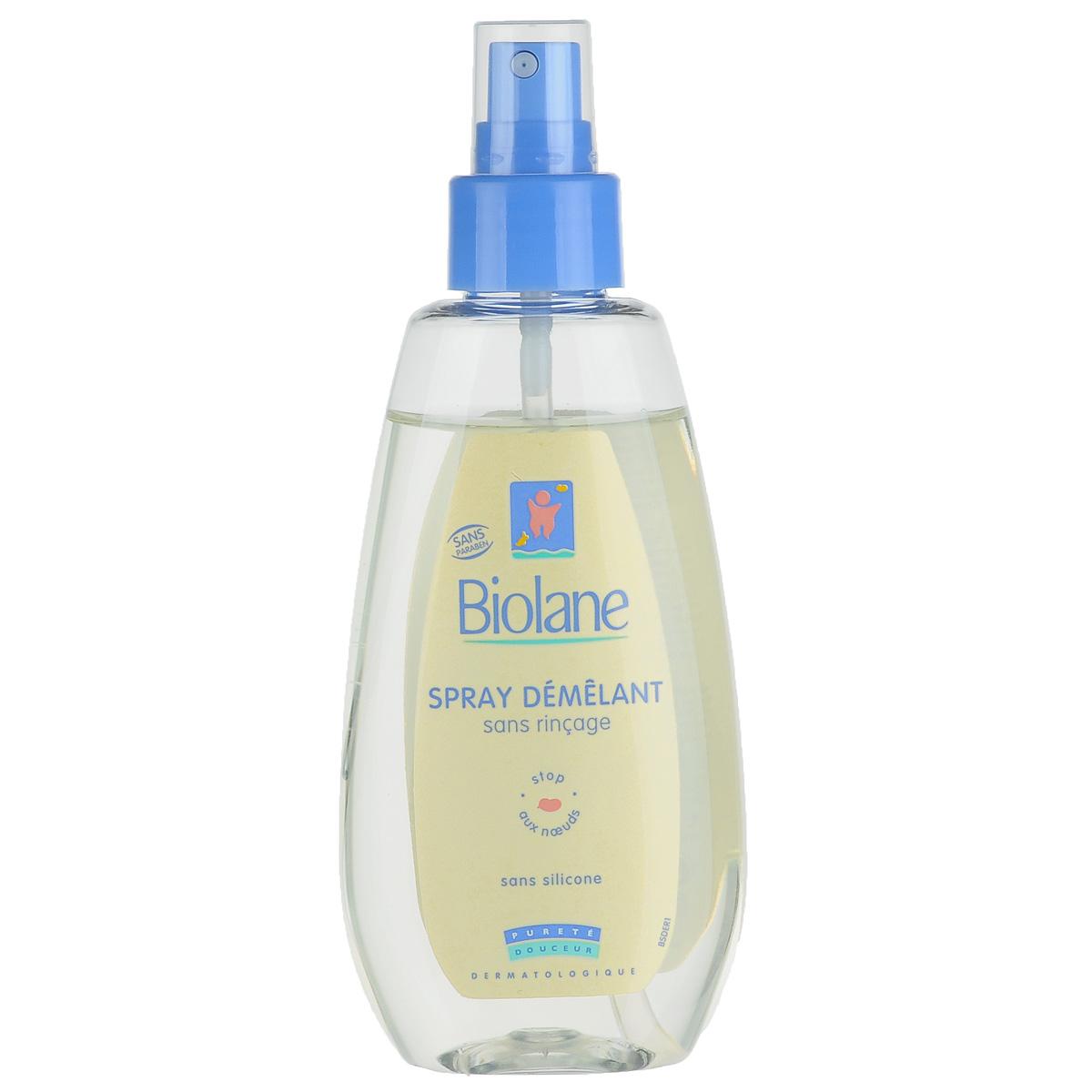 Biolane Детский спрей для легкого расчесывания волос, 150 млBSDСпрей Biolane поможет легко расчесать волосы вашего ребенка. Эффективно применяется как на влажные, так и на сухие волосы. Устраняет узелки и вихры на детских волосах, содержит витамин В5 и глицерин, не требует смывания водой после употребления. Спрей облегчает расчесывание и делает волосы мягкими, блестящими и шелковистыми, сохраняя при этом естественный кожный баланс. Протестирован дерматологами. Не содержит силикона, без спирта, не отяжеляет волосы. После применения волосы становятся гладкими и более крепкими. Товар сертифицирован.