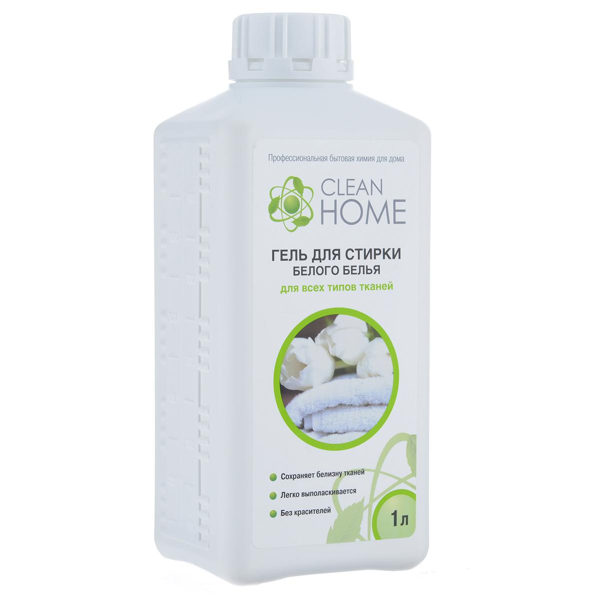 Гель для стирки белого белья Clean Home, для всех типов тканей, 1 л392Деликатное средство Clean Home предназначено для стирки всех типов белых тканей в воде любой жесткости для ручной и машинной стирки. - Обладает высокой моющей способностью - Эффективно удаляет пятна и загрязнения - Сохраняет структуру тканей - Препятствует образованию серого оттенка и желтизны - Легко выполаскивается. Не содержит красителей и хлора. Линия профессиональной бытовой химии для дома Clean Home представлена гаммой средств для стирки и уборки дома. Clean Home - это весь необходимый ряд высокоэффективных универсальных средств европейского качества. Состав: вода, 5-15% АПАВ, менее 5% НПАВ, менее 5% фосфаты, мыло, оптический отбеливатель, полимер, функциональные добавки, метилхлороизотиазолинон, метилизотиазолинон, отдушка.