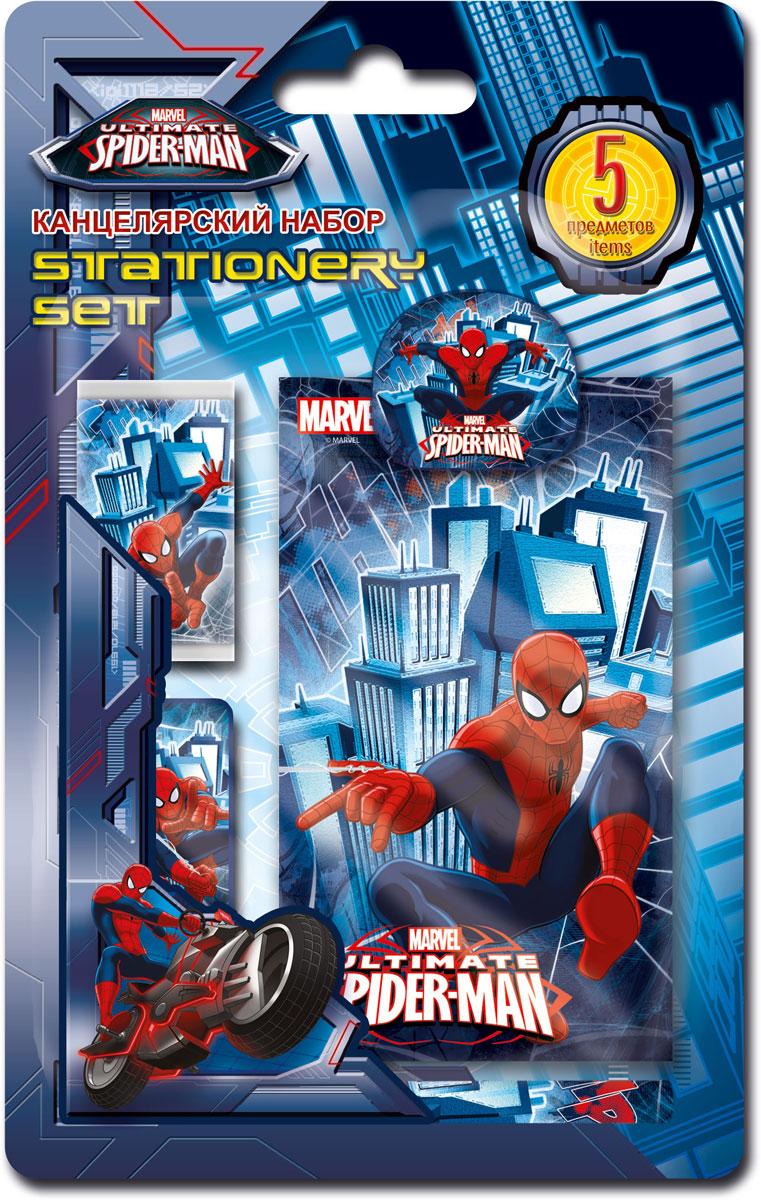 Набор канцелярский Spider-man Classic, 5 предметов. SMCB-US1-3808-BL5SMCB-US1-3808-BL5Набор канцелярских принадлежностей Spider-man Classic станет незаменимым аксессуаром для школьника. В набор входит: мини-карандаш, блокнот, клип, ластик обернутый бумагой, точилка. Предметы набора оформлены изображением любимого героя фильма Человек-паук. Канцелярские принадлежности оригинального дизайна поднимут настроение и станут оригинальным сувениром.