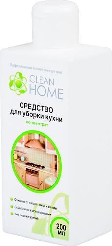 Средство Clean Home, для уборки кухни, концентрат, 200 мл748711Концентрированное средство Clean Home предназначено для эффективного удаления стойких жировых загрязнений, нагара, копоти с кафеля, плит, нержавеющих поверхностей, вытяжек, моек, грилей, духовых шкафов, противней и посуды, не требуя дополнительного механического усилия. Линия профессиональной бытовой химии для дома Clean Home представлена гаммой средств для стирки и уборки дома. Clean Home - это весь необходимый ряд высокоэффективных универсальных средств европейского качества. Состав: вода, 5-15% НПАВ, гидроксид натрия, лимонная кислота, менее 5% органический растворитель, функциональные добавки, парфюмерная композиция.