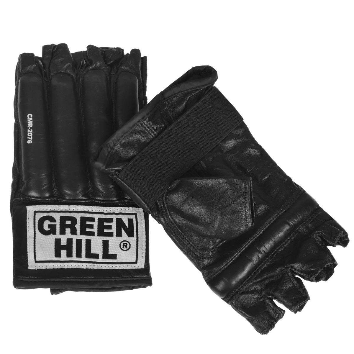 Шингарты для единоборств Green Hill Royal, цвет: черный. Размер SCMR-2076Шингарты Green Hill Royal предназначены для новичков и любителей, для тренировок в домашних условиях, а так же могут использоваться для боевого самбо или боев без правил. Выполнены из высококачественной натуральной кожи. Застежка в виде резинки надежно фиксирует шингарты на руке.