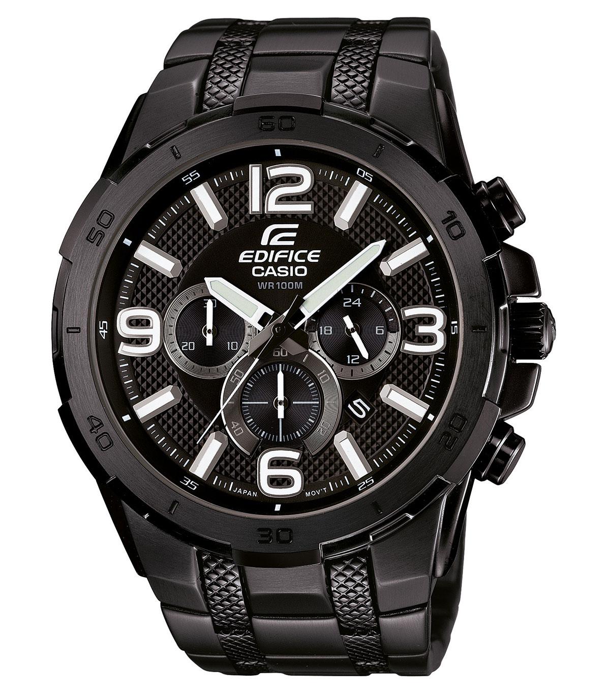 Часы мужские наручные CASIO EDIFICE, цвет: черный. EFR-538BK-1AEFR-538BK-1AСтильные мужские часы CASIO EDIFICE выполнены из нержавеющей стали, минерального стекла. Циферблат изделия дополнен светящимся составом на стрелках и символикой бренда. Часы оснащены полированным ударостойким корпусом, устойчивым к царапинам минеральным стеклом, секундомером, а также степенью влагозащиты 10 atm и тремя дополнительными циферблатами, индикатором даты. Изделие дополнено браслетом из нержавеющей стали, позволяющим максимально комфортно и быстро снимать и одевать часы при помощи застежки-клипсы. Часы поставляются в фирменной упаковке. Часы CASIO EDIFICE подчеркнут мужской характер и отменное чувство стиля у их обладателя.