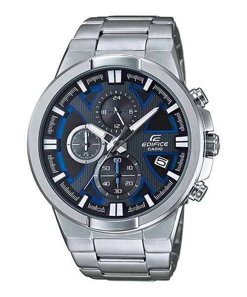 Часы мужские наручные CASIO EDIFICE, цвет: стальной, синий. EFR-544D-1A2EFR-544D-1A2Стильные мужские часы CASIO EDIFICE выполнены из нержавеющей стали, минерального стекла. Циферблат изделия дополнен сверхяркой подсветкой, при нажатии на кнопку подсветки экран ярко освещается в ультрамодный цвет, символикой бренда. Часы оснащены полированным ударостойким корпусом, устойчивым к царапинам минеральным стеклом, секундомером, а также степенью влагозащиты 10 atm и тремя дополнительными циферблатами, индикатором даты. Изделие дополнено браслетом из нержавеющей стали, позволяющим максимально комфортно и быстро снимать и одевать часы при помощи застежки-клипсы. Часы поставляются в фирменной упаковке. Часы CASIO EDIFICE подчеркнут мужской характер и отменное чувство стиля у их обладателя.