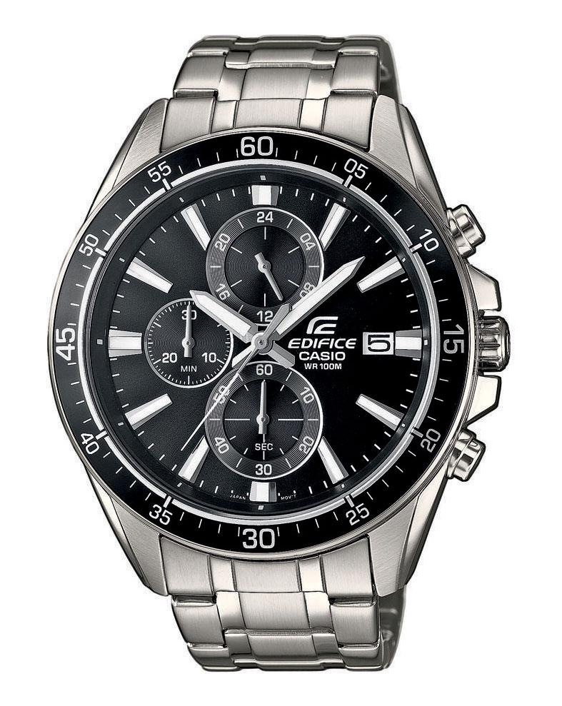 Часы мужские наручные CASIO EDIFICE, цвет: стальной, черный. EFR-546D-1AEFR-546D-1AСтильные мужские часы CASIO EDIFICE выполнены из нержавеющей стали, минерального стекла. Циферблат изделия дополнен сверхяркой подсветкой, при нажатии на кнопку подсветки экран ярко освещается в ультрамодный цвет, символикой бренда. Часы оснащены полированным ударостойким корпусом, устойчивым к царапинам минеральным стеклом, секундомером, а также степенью влагозащиты 10 atm и тремя дополнительными циферблатами, индикатором даты. Изделие дополнено браслетом из нержавеющей стали, позволяющим максимально комфортно и быстро снимать и одевать часы при помощи застежки-клипсы. Часы поставляются в фирменной упаковке. Часы CASIO EDIFICE подчеркнут мужской характер и отменное чувство стиля у их обладателя.
