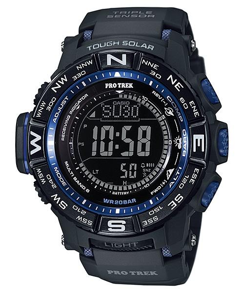 Часы мужские наручные Casio PRO TREK, цвет: черный, синий. PRW-3500Y-1EPRW-3500Y-1EСтильные мужские часы Casio PRO TREK выполнены из полимерных материалов и минерального стекла. Изделие дополнено подсветкой высокой яркости, корпус часов оформлен символикой бренда. В часах предусмотрен цифровой отсчет времени. Часы оснащены функцией мирового времени, которая позволяет мгновенно выяснять текущее время. Часы могут быть настроены на подачу тонального или светового сигнала при наступлении выставленного времени. Функция таймера позволит обеспечить обратный отсчет времени, начиная с выставленного и подачу тонального или светового сигнала, когда отсчет доходит до нуля. Функция секундомера позволит замерять прошедшее время в пределах тысячи часов с точностью 1/100 секунды, предусмотрен будильник, термометр, цифровой компас, альтиметр, барометр. Степень влагозащиты 20 atm. Изделие дополнено ремешком из полимерного материала, который обладает антибактериальными и запахоустойчивыми свойствами. Ремешок застегивается на пряжку, позволяющую максимально комфортно и быстро...
