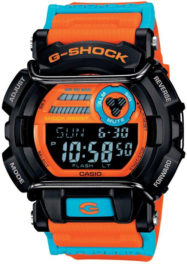 Часы мужские наручные Casio G-Shock, цвет: черный, оранжевый, голубой. GD-400DN-4EGD-400DN-4EСтильные мужские часы Casio G-Shock выполнены из полимерного пластика и нержавеющей стали. Часы оформлены символикой бренда. Изделие оснащено сверхмощной автоматической LED-подсветкой, секундомером, будильником, функцией мирового времени, секундомера, таймера, автоматическим календарем, суточным временем, а также имеет степень влагозащиты равную 20 atm. Ремешок изделия выполнен из полимерного пластика, оснащен пряжкой, которая позволит моментально снимать и надевать часы без лишних усилий. Изделие поставляется в фирменной упаковке. Часы Casio G-Shock подчеркнут мужской характер и отменное чувство стиля у их обладателя.