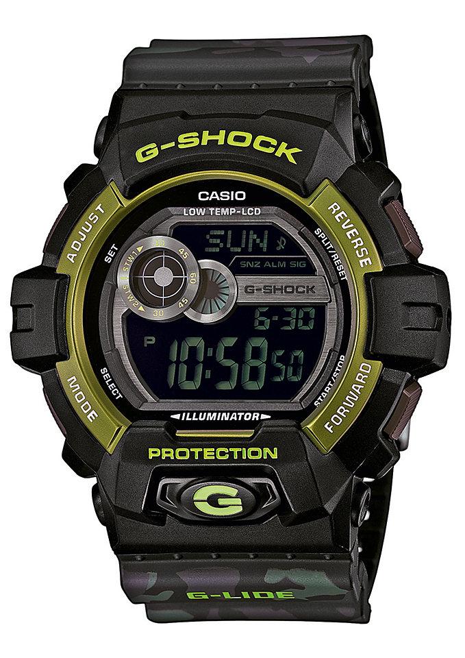 Часы мужские наручные Casio G-SHOCK, цвет: черный, зеленый. GLS-8900CM-1EGLS-8900CM-1EСтильные мужские часы Casio G-SHOCK выполнены из полимерных материалов и минерального стекла. Изделие дополнено светодиодной подсветкой высокой яркости, корпус часов оформлен символикой бренда и оригинальным принтом камуфляж. В часах предусмотрен цифровой отсчет времени. Часы оснащены функцией мирового времени, которая позволяет мгновенно выяснять текущее время. Часы могут быть настроены на подачу тонального или светового сигнала при наступлении выставленного времени. Функция таймера позволит обеспечить обратный отсчет времени, начиная с выставленного и подачу тонального или светового сигнала, когда отсчет доходит до нуля. Функция секундомера позволит замерять прошедшее время в пределах тысячи часов с точностью 1/100 секунды, предусмотрен будильник. Степень влагозащиты 20 atm. Изделие дополнено ремешком из полимерного материала, который обладает антибактериальными и запахоустойчивыми свойствами. Ремешок застегивается на пряжку, позволяющую максимально комфортно и быстро...