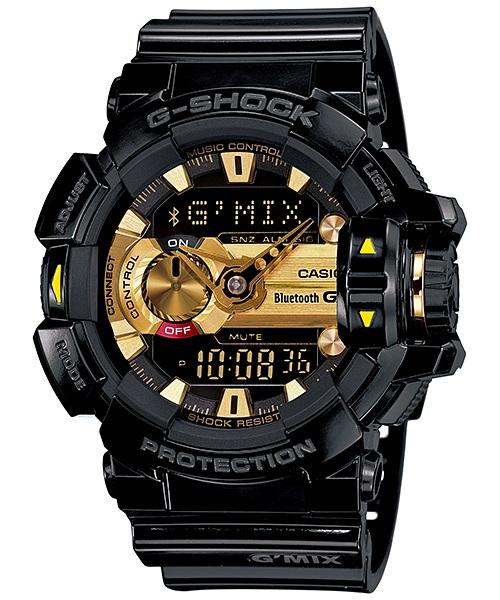 Часы мужские наручные Casio G-SHOCK, цвет: черный, золотистый. GBA-400-1A9GBA-400-1A9Стильные мужские часы Casio G-SHOCK выполнены из полимерных материалов и минерального стекла. Изделие дополнено светодиодной подсветкой высокой яркости, корпус часов оформлен символикой бренда. В часах предусмотрен аналоговый и цифровой отсчет времени. Часы оснащены функцией Mobile link, которая обеспечивает связь межу ними и смартфоном Bluetooth SMART и позволяет выставлять время на часах в соответствии со временем на смартфоне. Функция часовых зон позволяет мгновенно выяснять текущее время. Часы могут быть настроены на подачу тонального или светового сигнала при наступлении выставленного времени. Функция таймера позволит обеспечить обратный отсчет времени, начиная с выставленного и подачу тонального или светового сигнала, когда отсчет доходит до нуля. Функция секундомера позволит замерять прошедшее время в пределах тысячи часов с точностью 1/100 секунды. Степень влагозащиты 20 atm. Изделие дополнено ремешком из полимерного материала, который обладает антибактериальными...