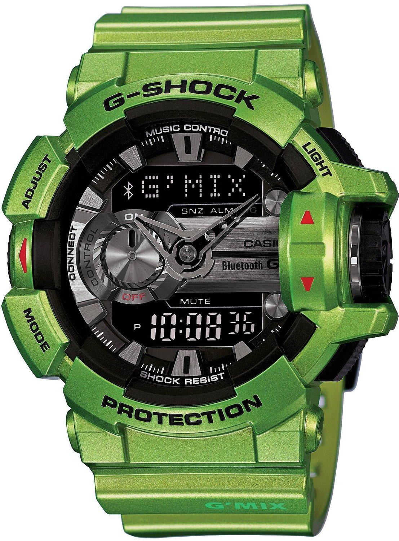"""Часы мужские наручные CASIO """"G-SHOCK"""", цвет: зеленый, черный. GBA-400-3B"""