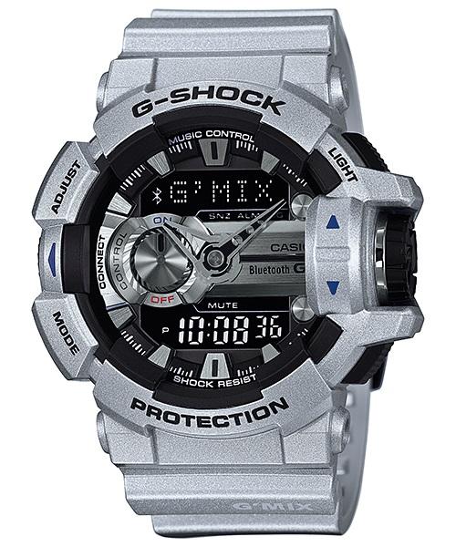 Часы мужские наручные CASIO G-SHOCK, цвет: серебристый, черный. GBA-400-8BGBA-400-8BСтильные мужские часы CASIO G-SHOCK выполнены из полимерных материалов и минерального стекла. Изделие дополнено светодиодной подсветкой высокой яркости, корпус часов оформлен символикой бренда. В часах предусмотрен аналоговый и цифровой отсчет времени. Часы оснащены функцией Mobile linkкоторая обеспечивает связь межу ними и смартфоном Bluetooth SMART и позволяет выставлять время на часах в соответствии со временем на смартфоне. Функция часовых зон позволяет мгновенно выяснять текущее время. Часы могут быть настроены на подачу тонального или светового сигнала при наступлении выставленного времени. Функция таймера позволит обеспечить обратный отсчет времени, начиная с выставленного и подачу тонального или светового сигнала, когда отсчет доходит до нуля. Функция секундомера позволит замерять прошедшее время в пределах тысячи часов с точностью 1/100 секунды. Степень влагозащиты 20 atm. Изделие дополнено ремешком из полимерного материала, который обладает антибактериальными и...