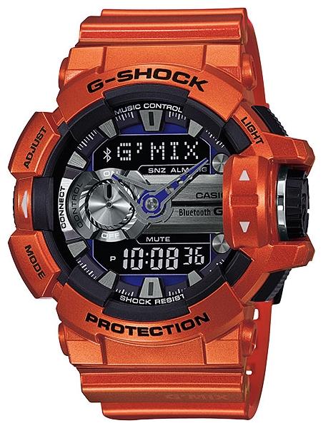 Часы мужские наручные CASIO G-SHOCK, цвет: оранжевый, черный. GBA-400-4BGBA-400-4BСтильные мужские часы CASIO G-SHOCK выполнены из полимерных материалов и минерального стекла. Изделие дополнено светодиодной подсветкой высокой яркости, корпус часов оформлен символикой бренда. В часах предусмотрен аналоговый и цифровой отсчет времени. Часы оснащены функцией Mobile link, которая обеспечивает связь межу ними и смартфоном Bluetooth SMART и позволяет выставлять время на часах в соответствии со временем на смартфоне. Функция часовых зон позволяет мгновенно выяснять текущее время. Часы могут быть настроены на подачу тонального или светового сигнала при наступлении выставленного времени. Функция таймера позволит обеспечить обратный отсчет времени, начиная с выставленного и подачу тонального или светового сигнала, когда отсчет доходит до нуля. Функция секундомера позволит замерять прошедшее время в пределах тысячи часов с точностью 1/100 секунды. Степень влагозащиты 20 atm. Изделие дополнено ремешком из полимерного материала, который обладает антибактериальными...