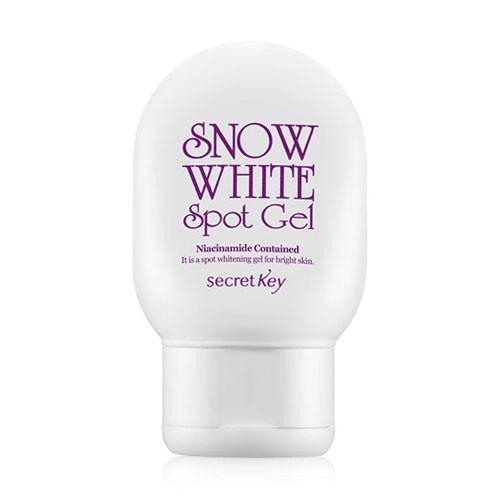 Secret Key Отбеливающий гель для лица и тела Snow White Spot Gel 65 гр93831Отбеливающий гель для лица и тела. Превосходный гель, обладающий осветляющим эффектом. Придает коже сияние, делает ее более здоровой и красивой. Не стягивает кожу, не оставляет ощущения жирной пленки. Так же гель сокращает поры и увлажняет кожу.