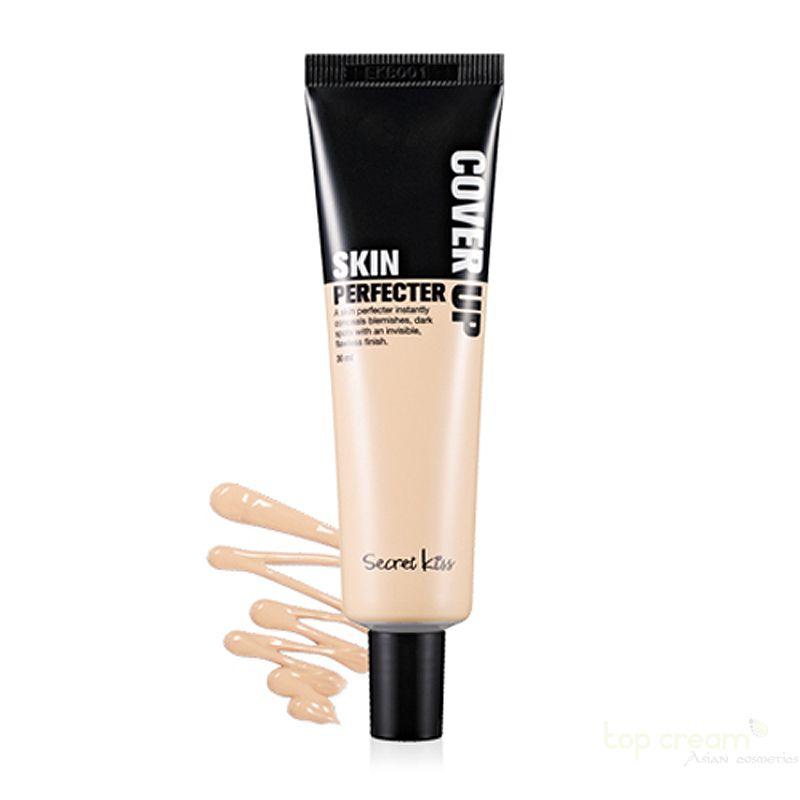 Secret Key Ухаживающий консилер Cover Up Skin Perfecter Natural 30 мл.94746Крем является основой для дневного и вечернего макияжа, который маскирует недостатки кожи и устраняет причину их появления. Создавая тонкий слой, препарат оставляет возможность коже дышать весь день, и вместо парового эффекта обычного тонального крема, создает впечатления крема и становится незаменимой составляющей женской косметички.