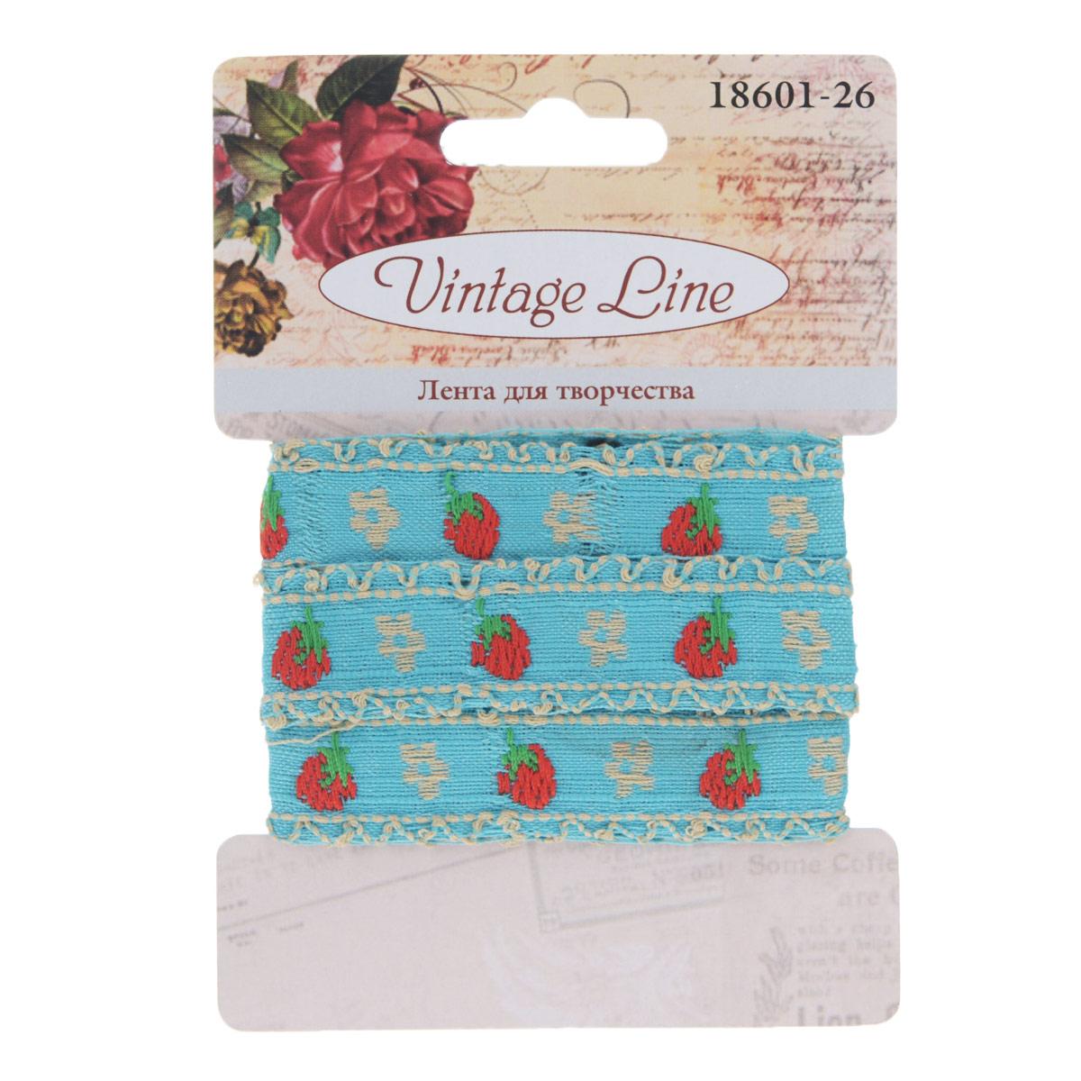 Лента декоративная Vintage Line, 1,5 см х 100 см. 77096747709674Декоративная лента Vintage Line выполнена из текстиля и оформлена вышивкой ягод и цветков. Такая лента идеально подойдет для оформления различных творческих работ таких, как скрапбукинг, аппликация, декор коробок и открыток и многое другое. Лента наивысшего качества практична в использовании. Она станет незаменимым элементом в создании рукотворного шедевра. Ширина: 1,5 см. Длина: 1 м.