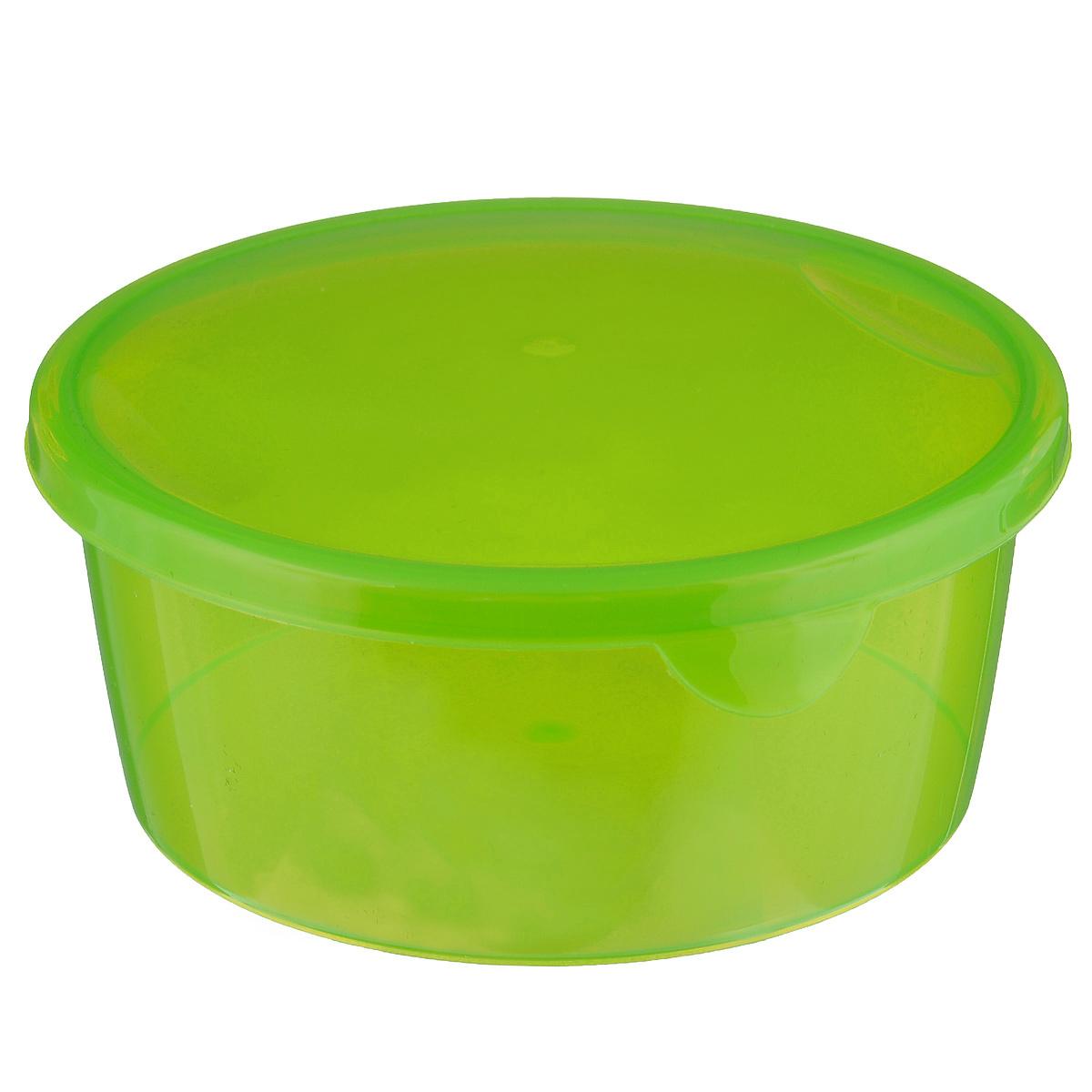 Контейнер P&C Браво, цвет: зеленый, 500 млПЦ1032Контейнер P&C Браво выполнен из высококачественного пищевого пластика и предназначен для хранения и транспортировки пищи. Крышка легко открывается и плотно закрывается с помощью легкого щелчка. Подходит для использования в микроволновой печи без крышки (до +100°С), для заморозки при минимальной температуре -30°С. Можно мыть в посудомоечной машине. Диаметр контейнера: 12 см. Высота стенки: 5 см.