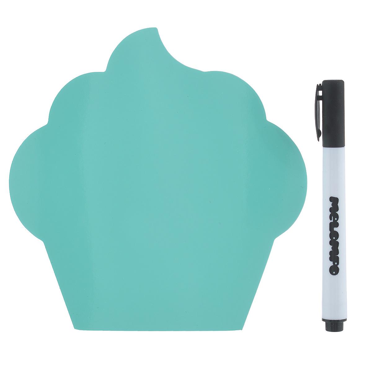 Памятка маркерная Melompo Кекс, 12 см х 12 смМ103цв PFМагнитная доска на холодильник Melompo Кекс - оригинальная вещь для ежедневных посланий родным и близким. Доска выполнена в виде кекса. В комплект входят: Памятка - легко примагничивается и просто снимается. Маркер - прекрасно пишет и также хорошо стирается. Держатель - позволит примагнитить памятку к неметаллической поверхности.