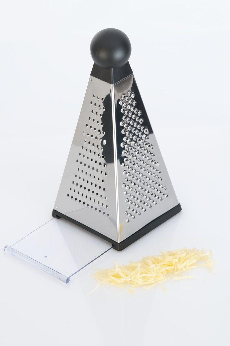 Терка пирамидальная Studio 10х23,5см , цвет: металлик-черный