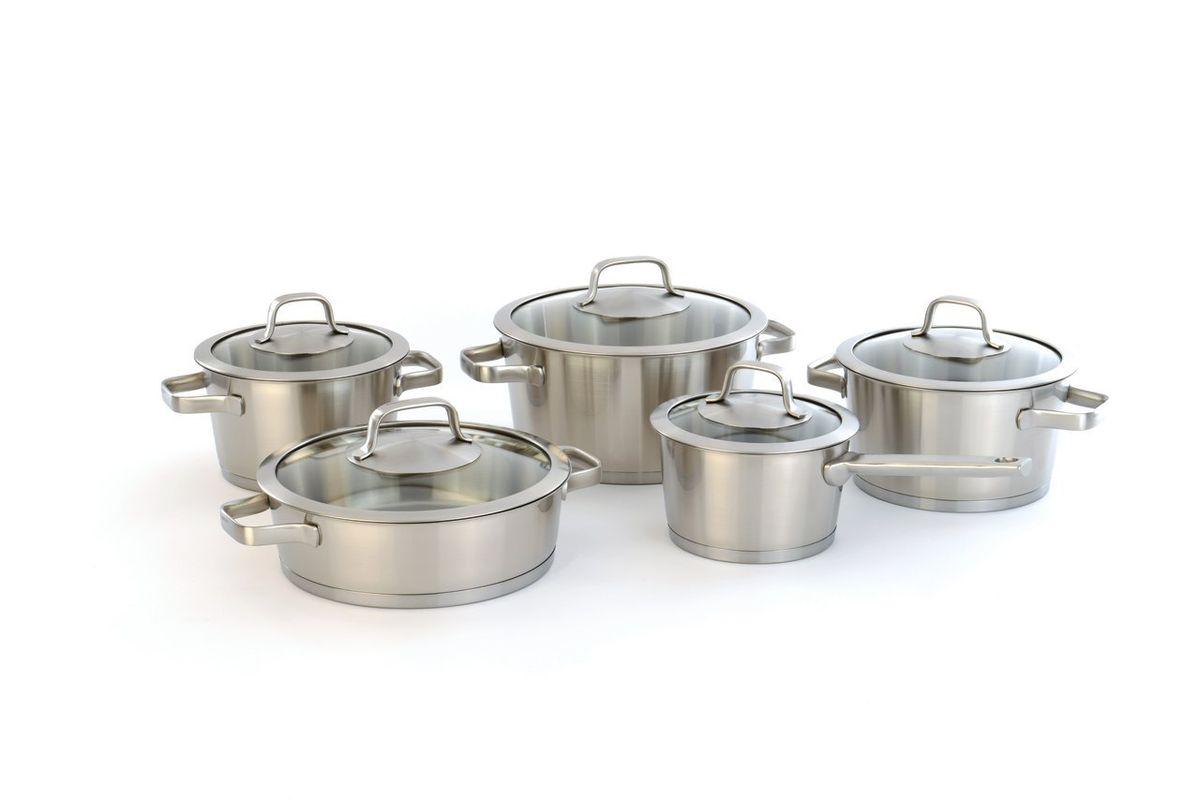 Набор посуды из 10 пр. Manhattan , цвет: металлик