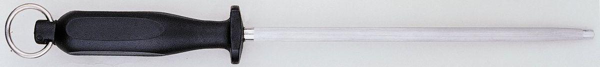 Мусат BergHOFF Orion, цвет: металлик-черный, длина прутка 25,5 см1301792Мусат BergHOFF Orion отлично подходит для профессионального затачивания ножей. Мусат используется для правки режущей части кромки, что увеличивает остроту резки лезвия. Он поможет поддерживать ваши ножи в хорошем рабочем состоянии и не потребуют заточки ножа, так как заточка снимает часть металла с лезвия ножа, что сокращает срок службы. Удобный в использовании, безопасный и долговечный. Очень легкий. Ручка выполнена из прочного пластика. Рекомендуется мыть вручную. Общая длина мусата: 39 см. Длина рабочей части мусата: 25,5 см.