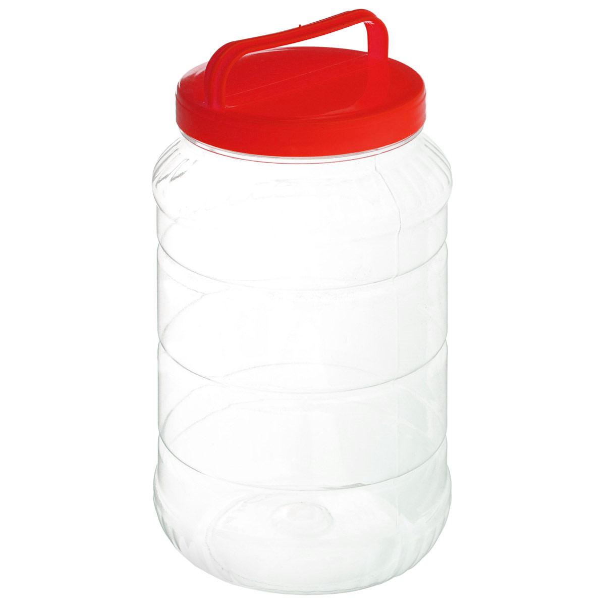 Бидон Альтернатива, цвет: красный, 3 лМ462_красныйБидон Альтернатива предназначен для хранения и переноски пищевых продуктов, таких как молоко, вода и прочее. Выполнен из пищевого высококачественного ПЭТ. Оснащен ручкой для удобной переноски. Бидон Альтернатива станет незаменимым аксессуаром на вашей кухне. Высота бидона (без учета крышки): 25 см. Диаметр: 10,5 см.
