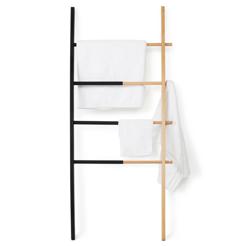 Вешалка Hub раздвижная320260-045Гениальная идея для небольшого пространства: вешалка, способная менять свой размер. Её ширина регулируется: от 40,6 см до 61 см, так что если у вас есть незадействованные уголки пространства, добавьте им функциональности. Красивое сочетание древесины бука и стали с черным матовым напылением украсит ванную комнату, кабинет, коридор или спальню, позволив повесить полотенца, одежду и даже пальто. Четыре перекладины и четыре крючка для самых разнообразных вещей. Идеально! Материал: дерево, резина; цвет: бежевый