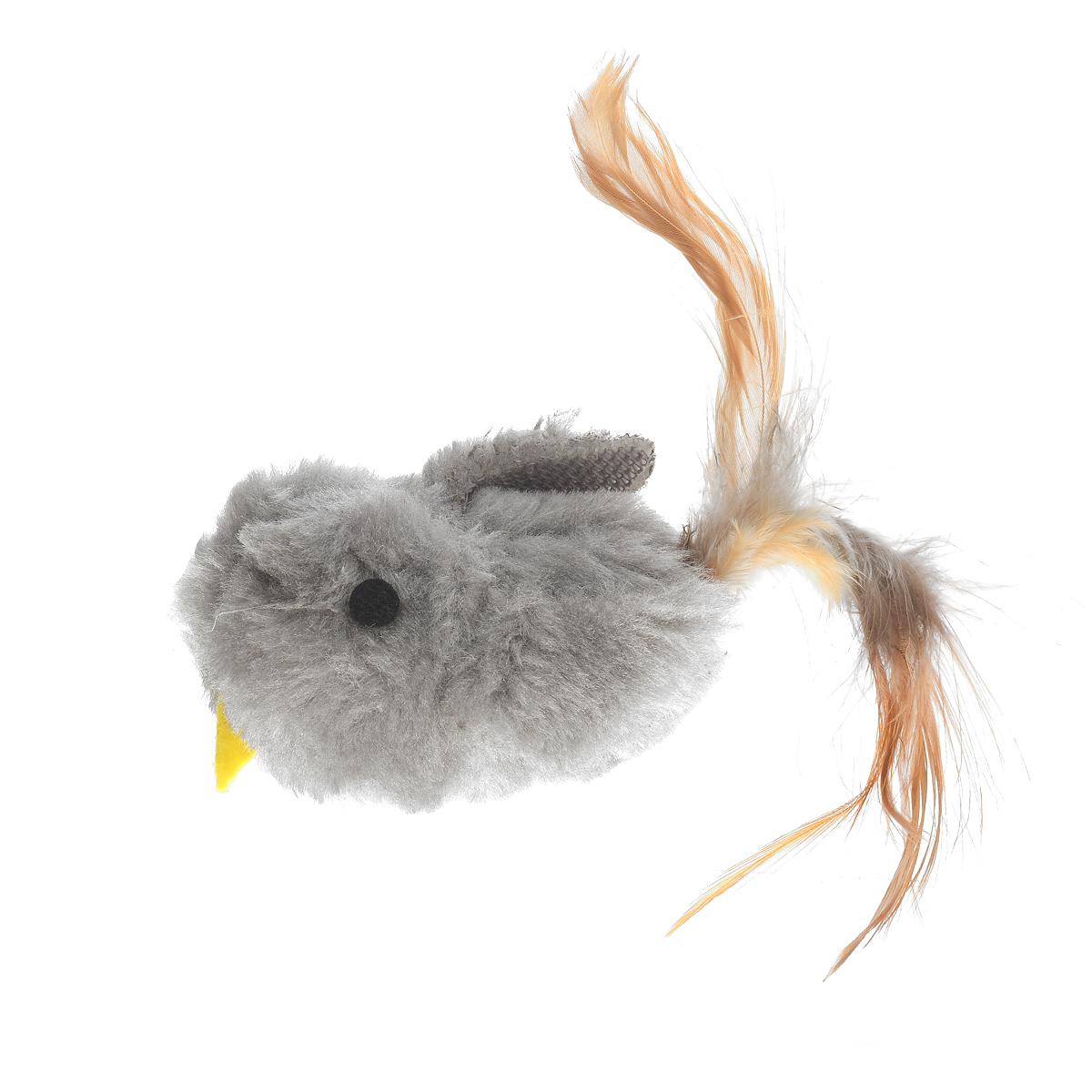Игрушка для кошки V.I.Pet Птичка, с мятой, цвет: серыйC-103Игрушка V.I.Pet Птичка, изготовленная из текстиля, наполнена кошачьей мятой (котовником) - растением, запах которого делает кошку более игривой. Очень агрессивные кошки становятся спокойными и уравновешенными. С помощью этой игрушки кошка легко перенесет путешествие на автомобиле, посещение ветеринарного врача или переезд животного на новую квартиру.