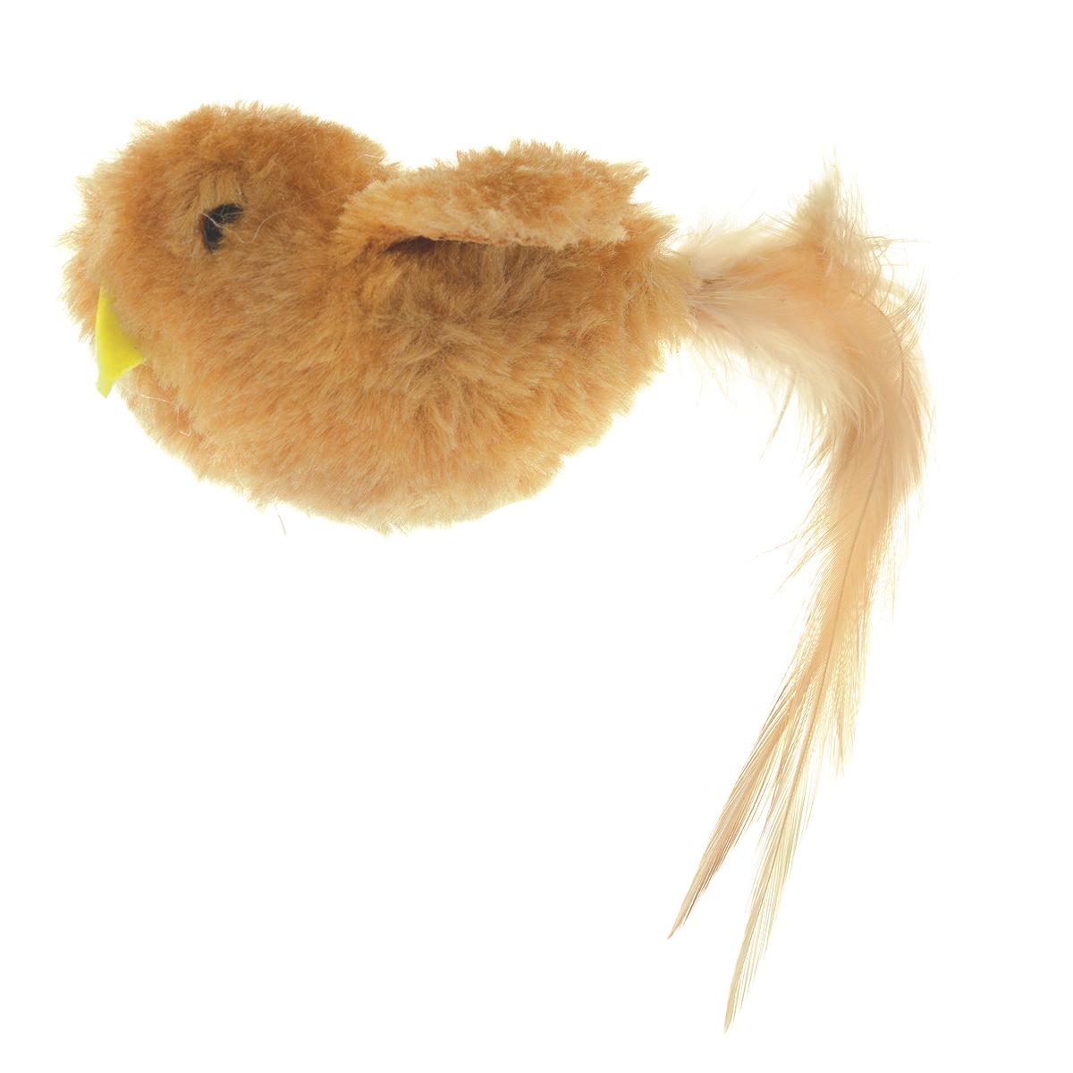 Игрушка для кошки V.I.Pet Птичка, с мятой, цвет: коричневыйC-103Игрушка V.I.Pet Птичка, изготовленная из текстиля, наполнена кошачьей мятой (котовником) - растением, запах которого делает кошку более игривой. Очень агрессивные кошки становятся спокойными и уравновешенными. С помощью этой игрушки кошка легко перенесет путешествие на автомобиле, посещение ветеринарного врача или переезд животного на новую квартиру.
