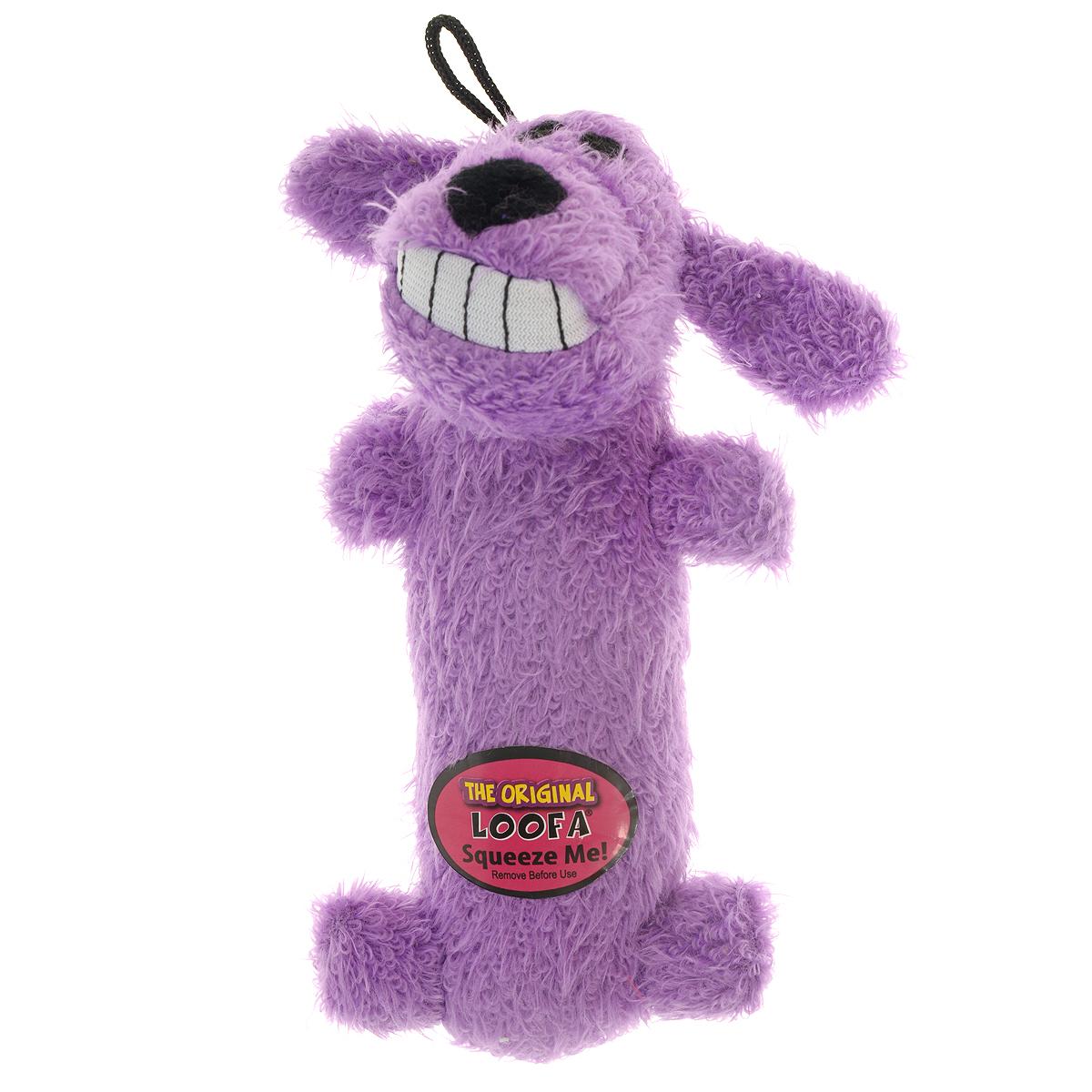 """Игрушка для животных Multipet """"Собака"""", с пищалкой, цвет: фиолетовый 12-47711"""