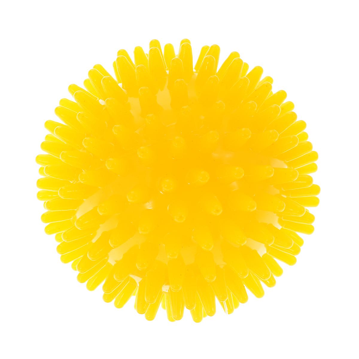 Игрушка для собак V.I.Pet Массажный мяч, цвет: желтый, диаметр 10 смBL11-015-100Игрушка для собак V.I.Pet Массажный мяч, изготовленная из ПВХ, предназначена для массажа и самомассажа рефлексогенных зон. Она имеет мягкие закругленные массажные шипы, эффективно массирующие и не травмирующие кожу. Игрушка не позволит скучать вашему питомцу ни дома, ни на улице. Диаметр: 10 см.