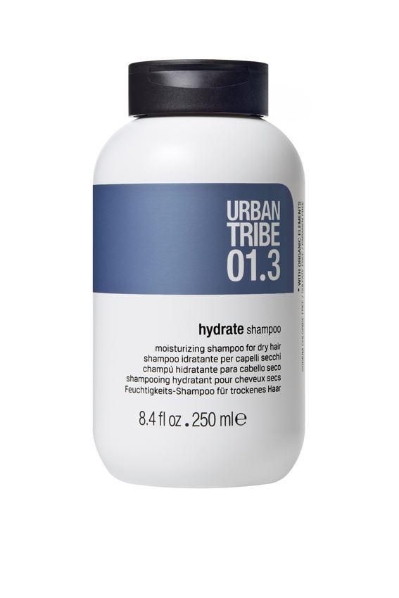 URBAN TRIBE Увлажняющий шампунь для сухих волос 250 мл.56270Шампунь, придающий объем тонким волосам. Специальные активные ингредиенты в составе инновационной формулы мягко очищают волосы, придавая им объем. Волосы становятся густыми, блестящими, легко расчесываются.