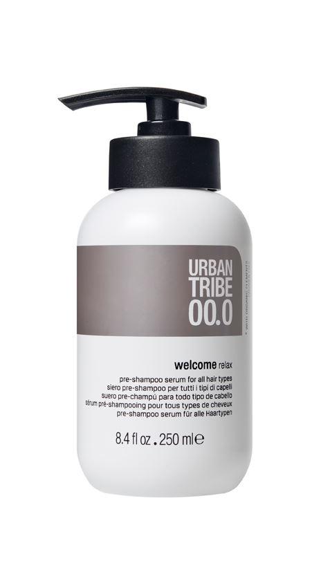 URBAN TRIBE Подготовительный шампунь для всех типов волос Pre-Shampoo Serum 250 мл.56652Подготовительный шампунь для всех типов волос (pre-shampoo). Urban Tribe дарит потрясающее наслаждение, начинающееся с приветственного ухода: расслабляющая формула, содержащая специальные эфирные масла и эксклюзивные активные ингредиенты, доставляет истинное наслаждение, а простой приятный массаж подготавливает волосы, делая их более послушными и увлажняя их перед очищением.