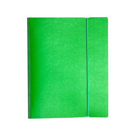 Тетрадь 120л А5ф на 4 х кольцах Пластиковая обложка на резинке WOOD Зеленая120ТК5Bр1_02207