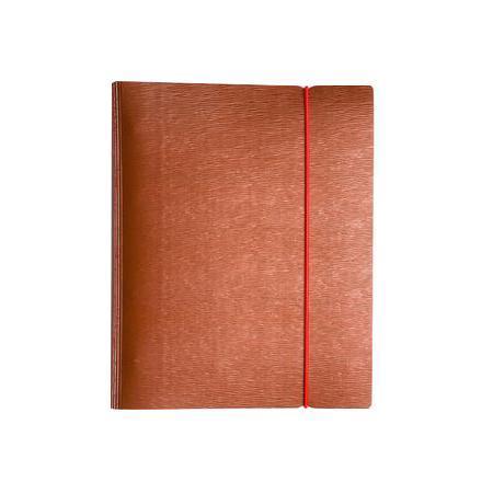 Тетрадь 120л А5ф на 4 х кольцах Пластиковая обложка на резинке WOOD Красная120ТК5Bр1_02215