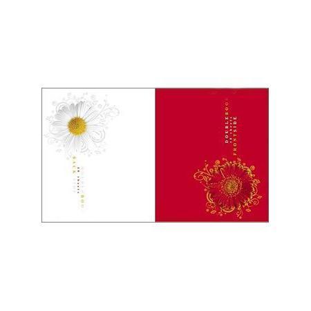 Тетрадь двойная 48л А5ф клетка на скобе Цветок
